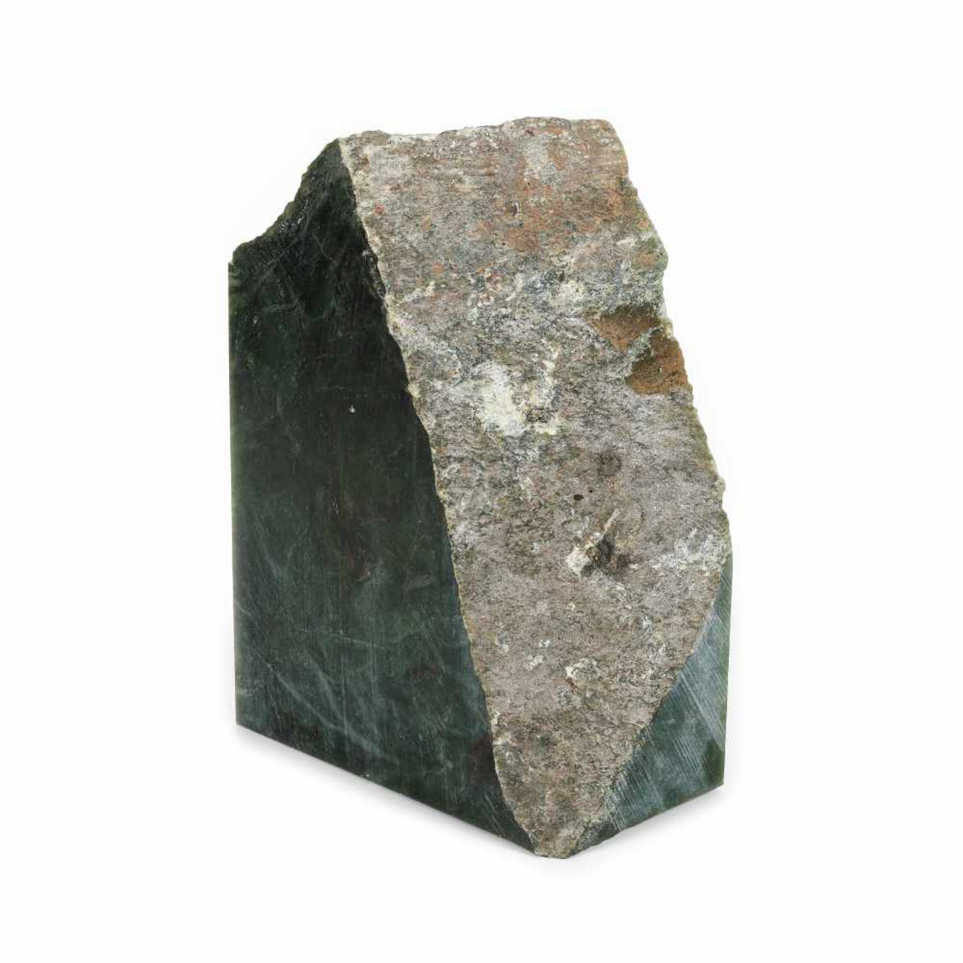 Unprocessed nephrite (jade) fragment