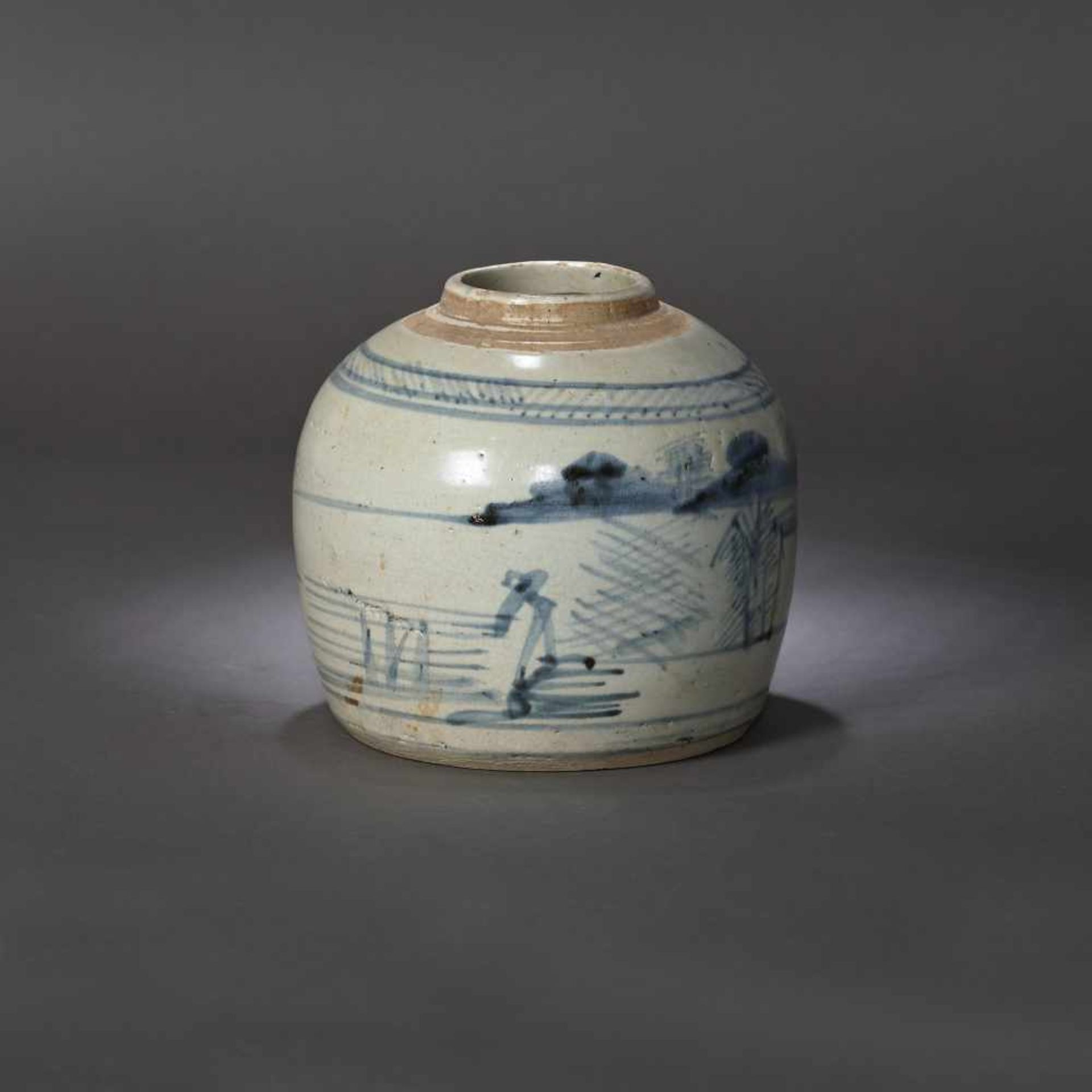 Ginger vessel, decorated with traditional landscapes, possibly 17th century - Bild 2 aus 5
