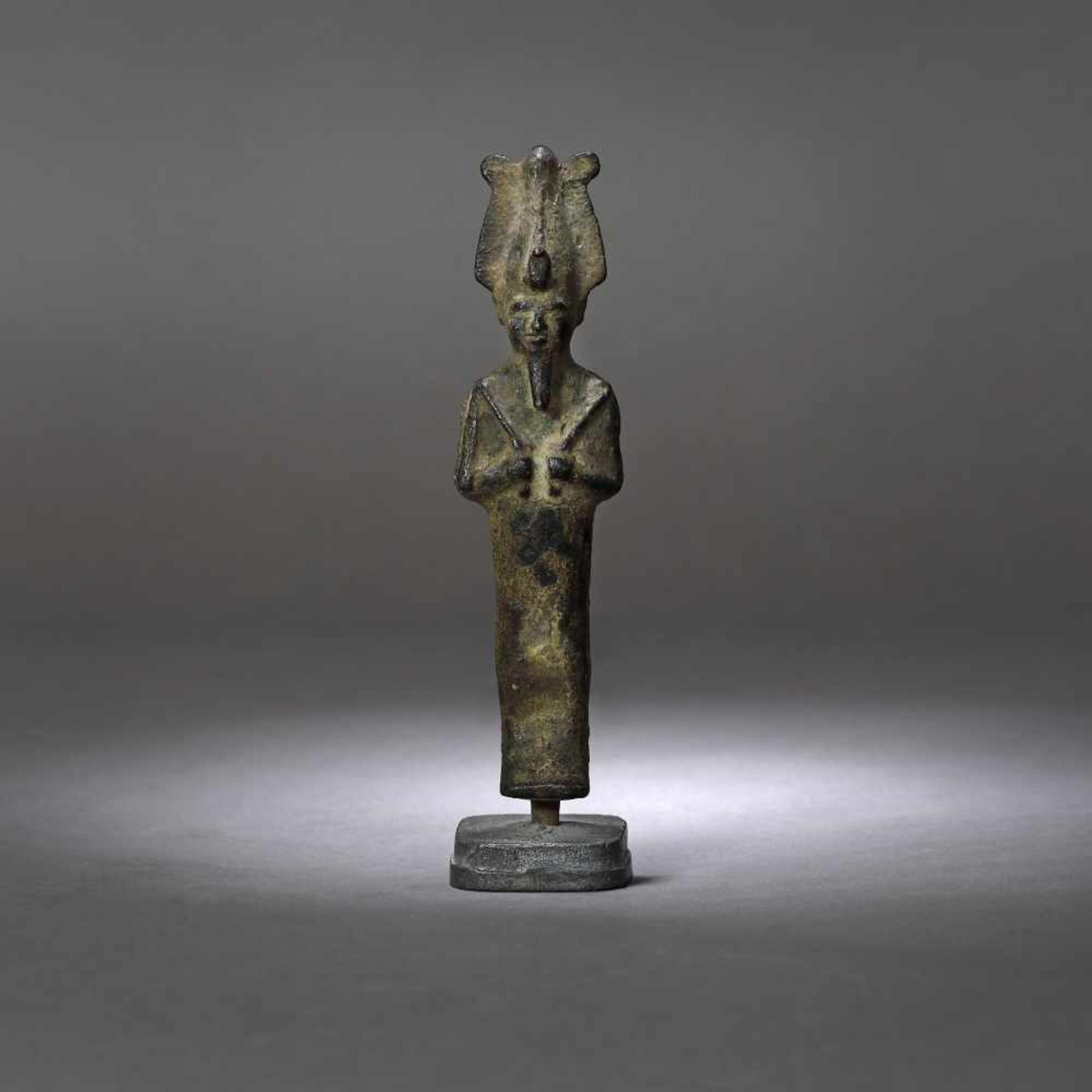 Egyptian bronze statuette, representing Osiris (god of life, afterlife and resurrection), probably t