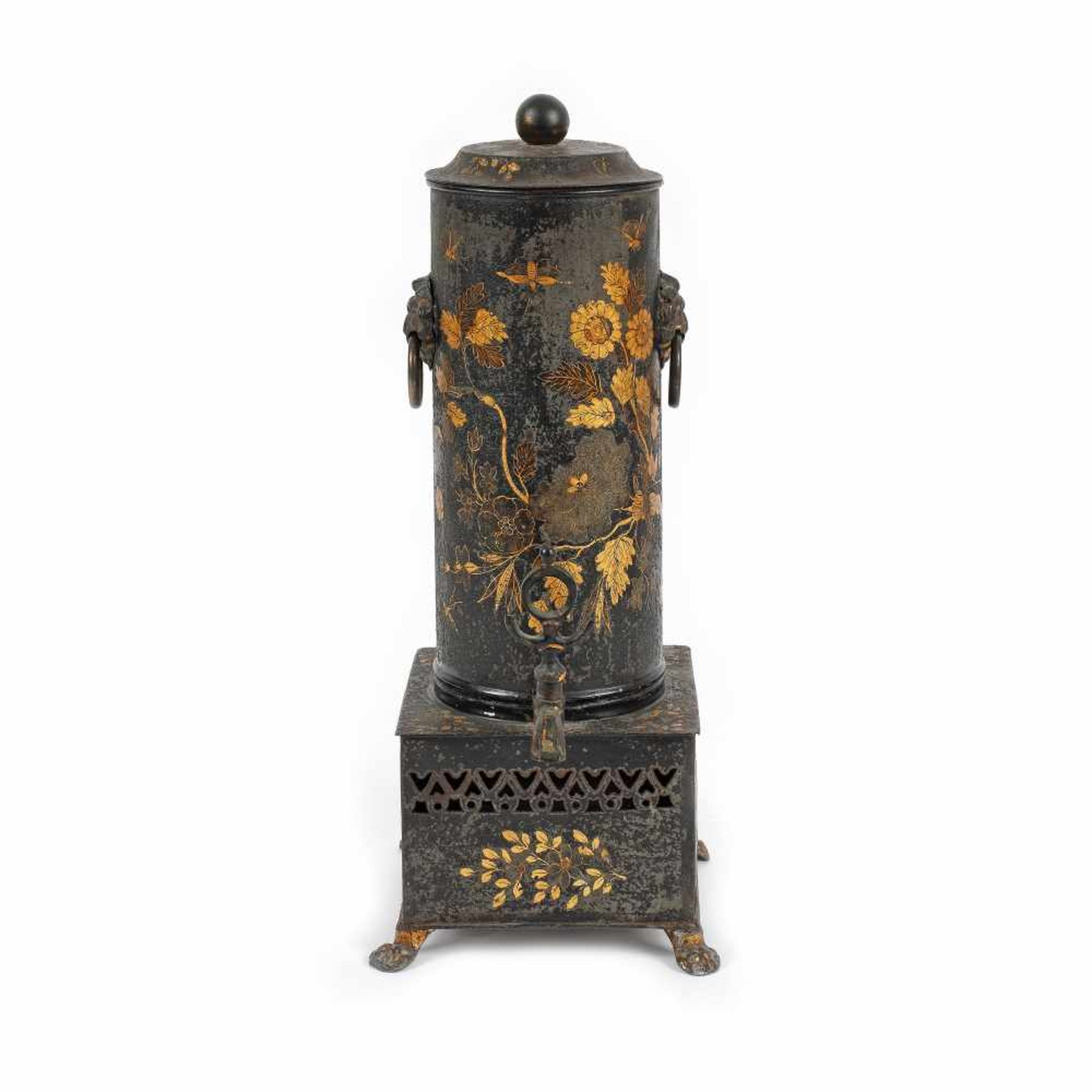 Coffee maker decorated with floral motifs, possibly France, early 20th century