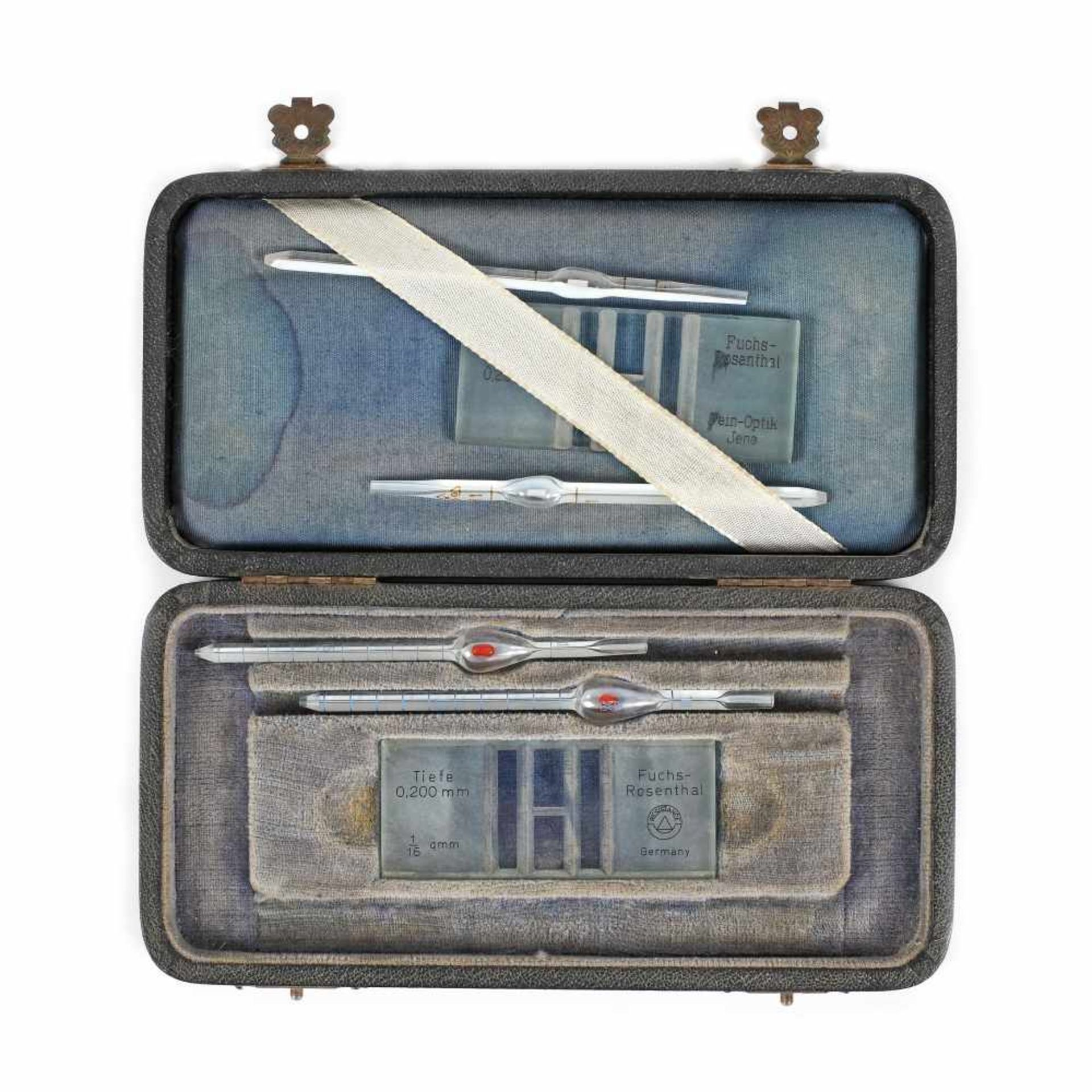 Kit for counting blood cells and measuring blood pH, Germany, middle 20th century