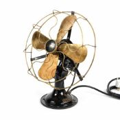 Vintage AEG fan in Art Deco style, designed by Peter Behrens, early 20th century