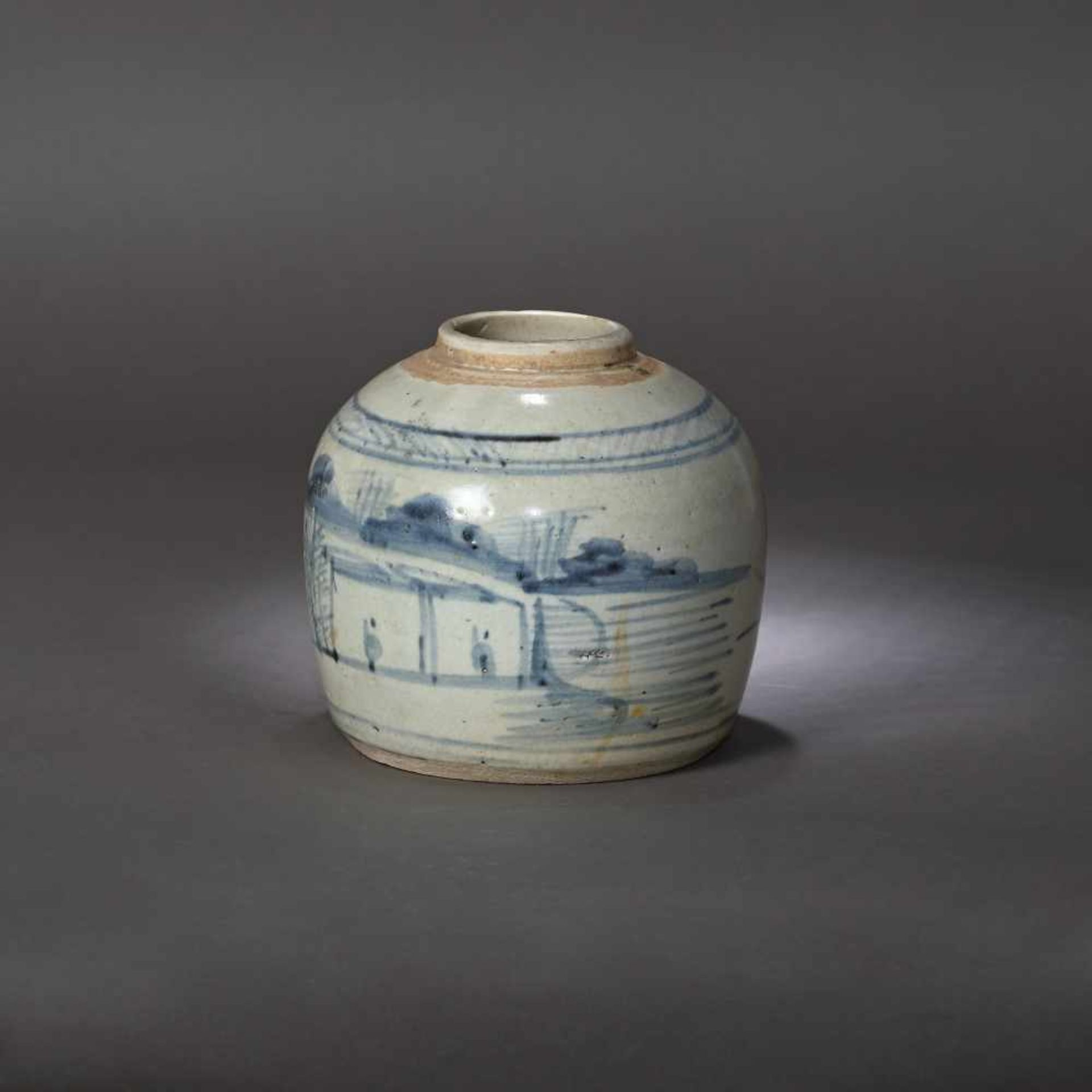 Ginger vessel, decorated with traditional landscapes, possibly 17th century - Bild 3 aus 5