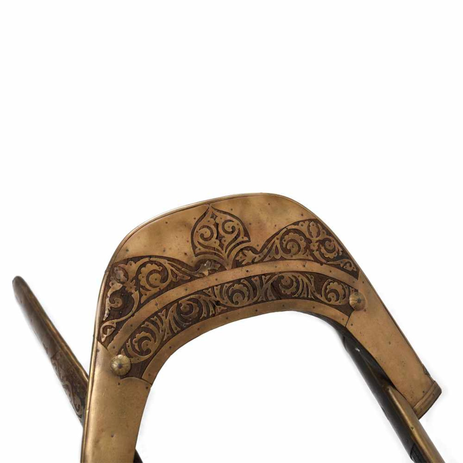 Camel saddle, specific to the Dromedary Regiment, from the Napoleonic campaign in Egypt, early 19th - Bild 2 aus 3