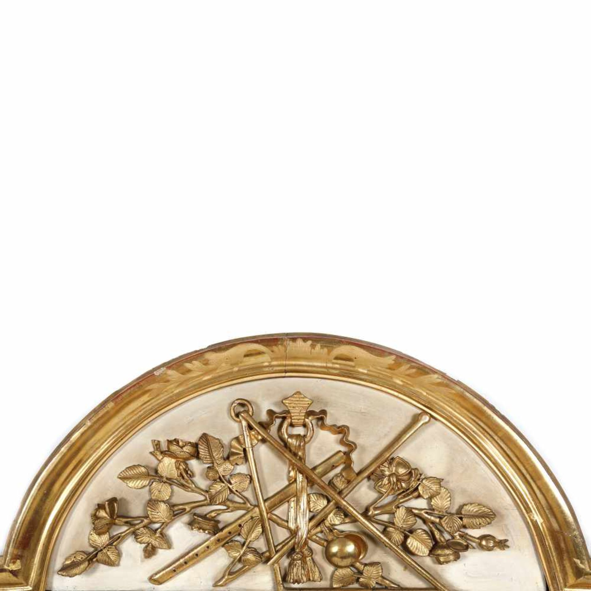 Louis XVI style mirror, with medallion decorated with Masonic elements, early 20th century - Bild 2 aus 2