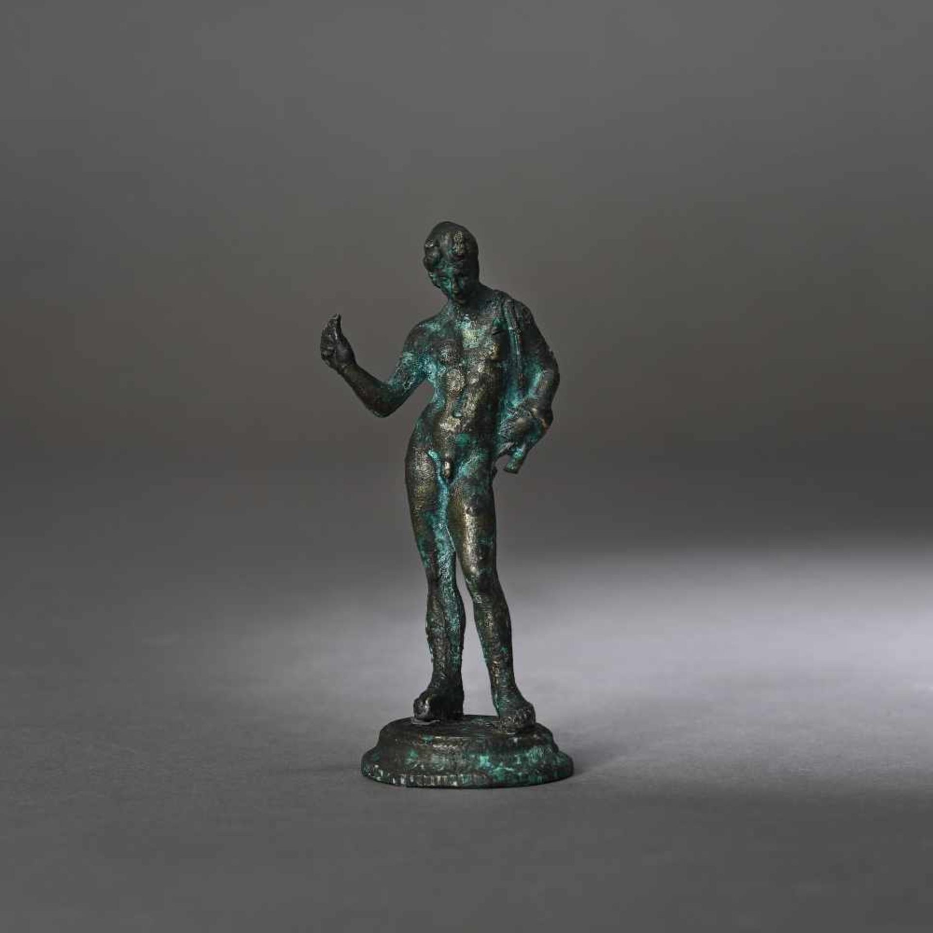 Bronze statuette depicting an ephebe, 2nd-1st century B.C.