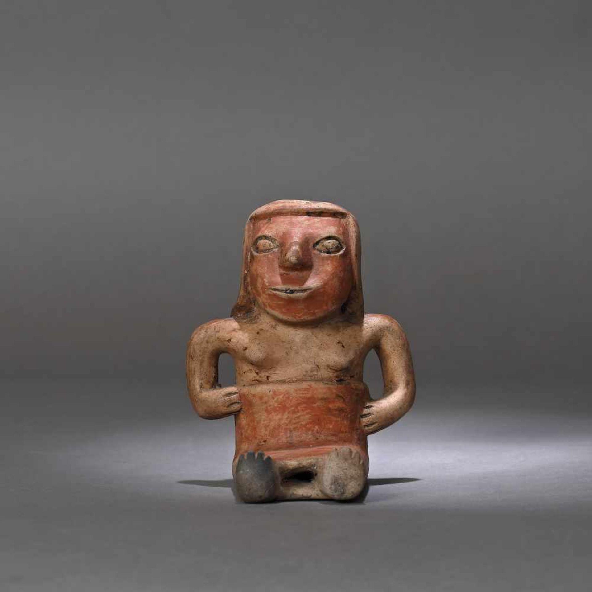 Ceramic statuette, depicting a female figure, Narino culture, Columbia, approx. 1,750 years old, 3rd