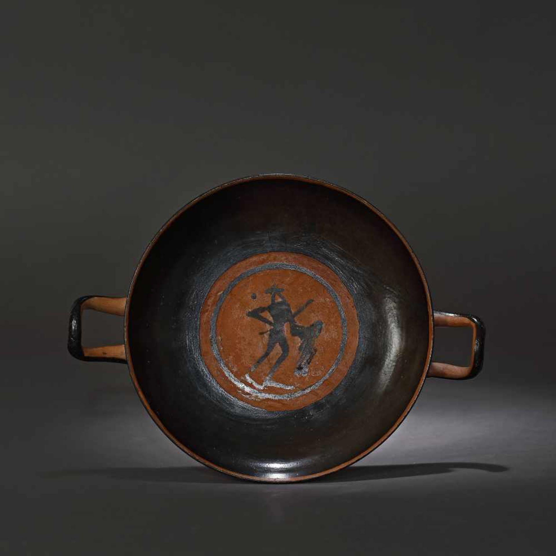Kylix - ceramic wine jug, black-figure style, Classical Greece, approx. 2,400 years old, 4th century - Bild 5 aus 7