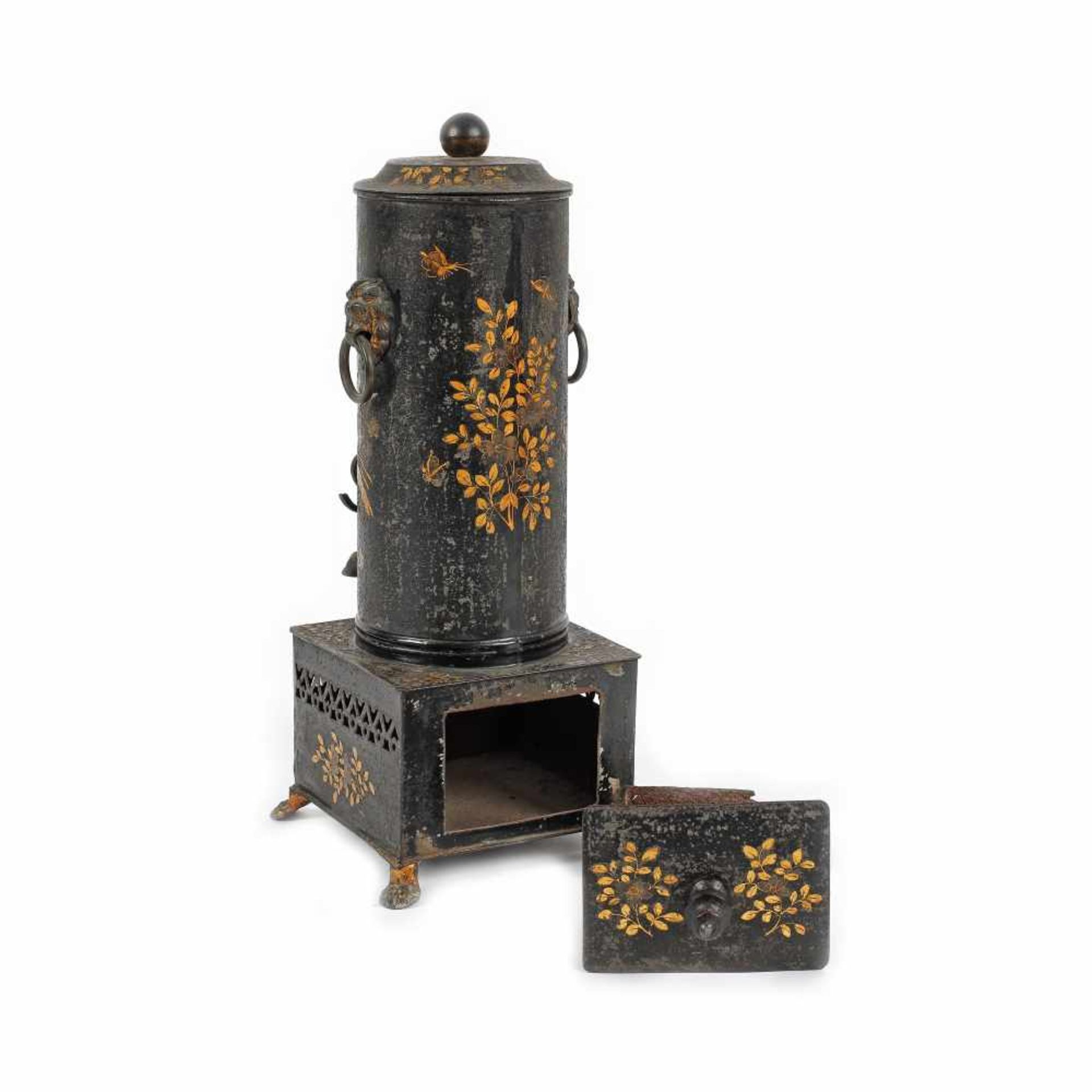 Coffee maker decorated with floral motifs, possibly France, early 20th century - Bild 3 aus 3