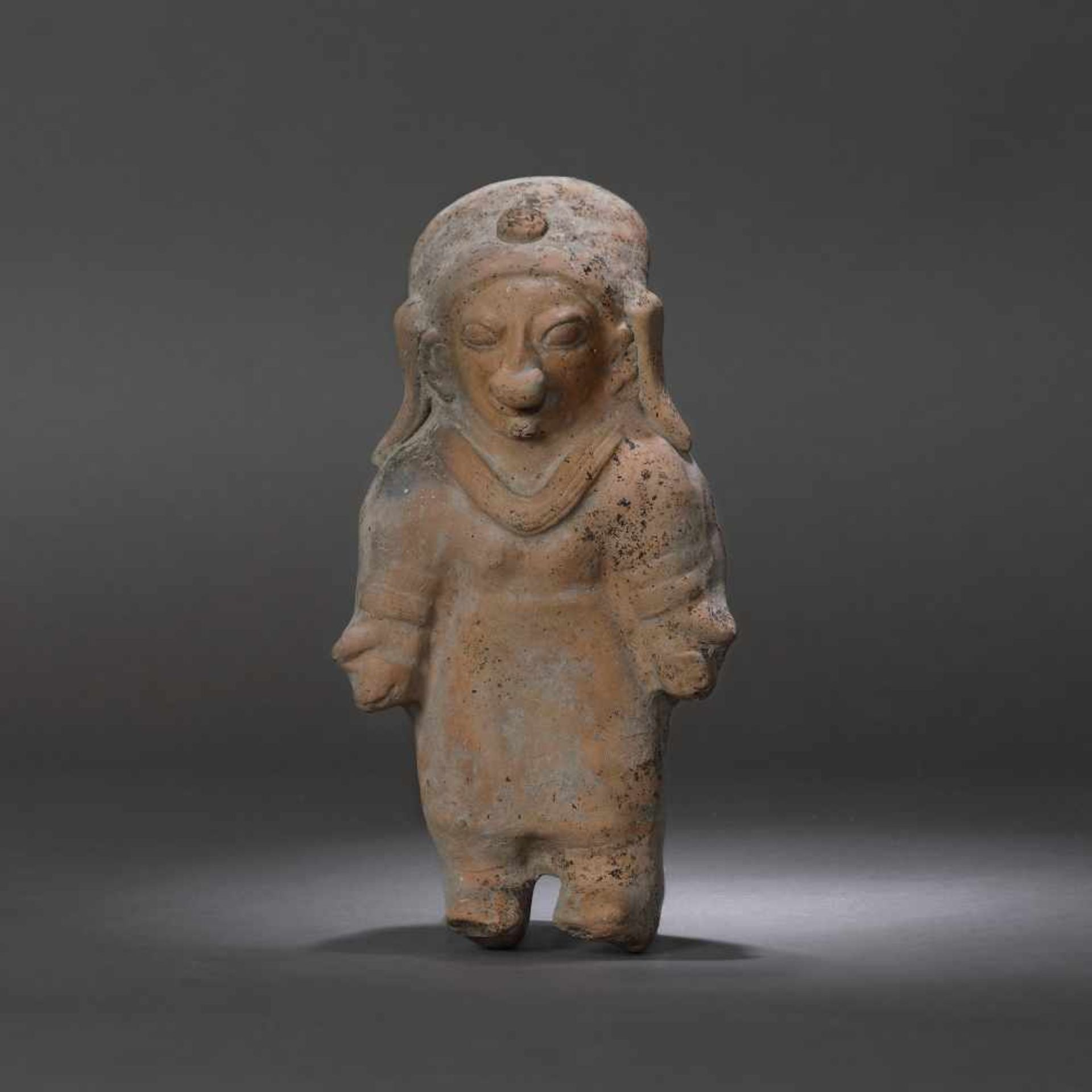 Terracotta statuette, depicting a female figure, Jama Coaque culture, Ecuador, approx. 1,700 years o