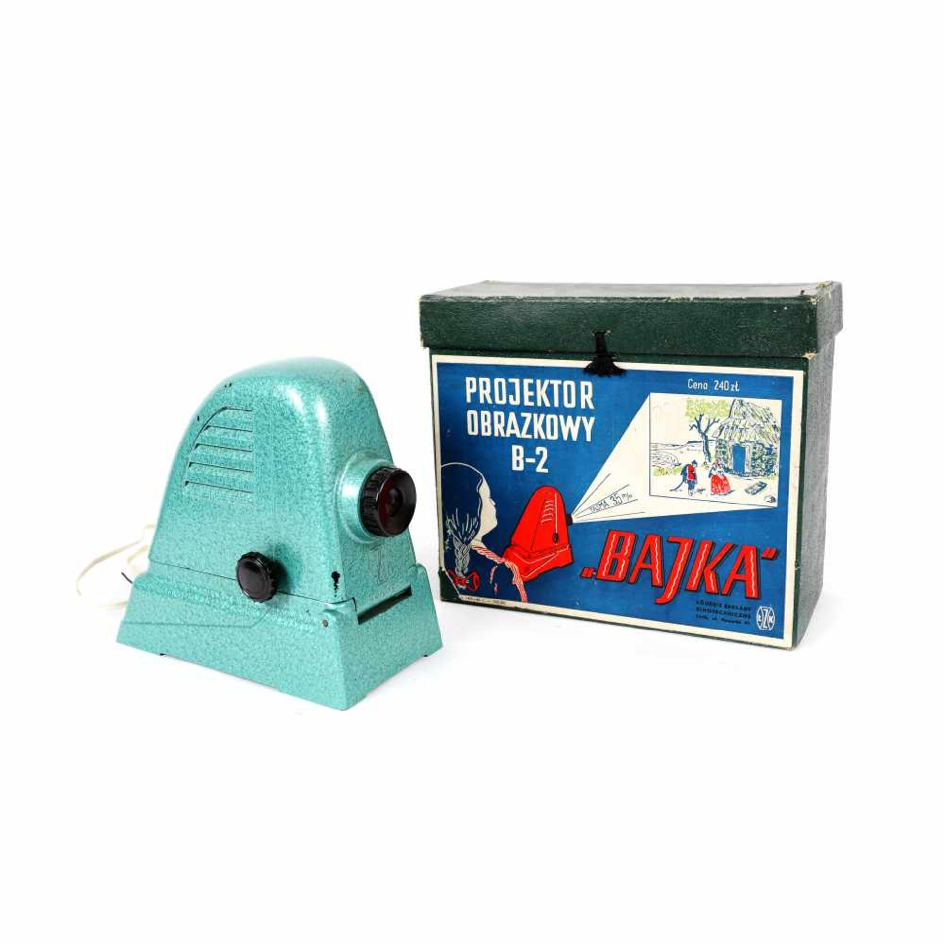 "B-2 ""Bajka"" projector for 35 mm films, Poland, approx. 1950-1960, original box"