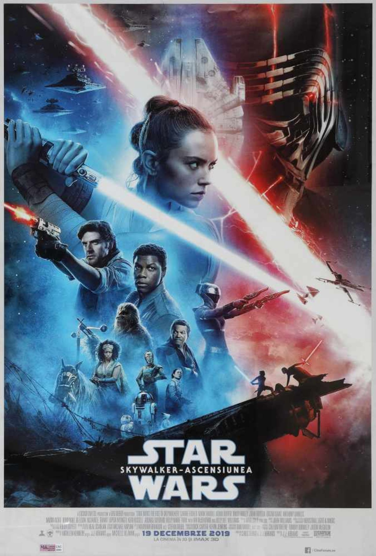 Poster for the movie Star Wars - Ascensiunea (The Rise of Skywalker)
