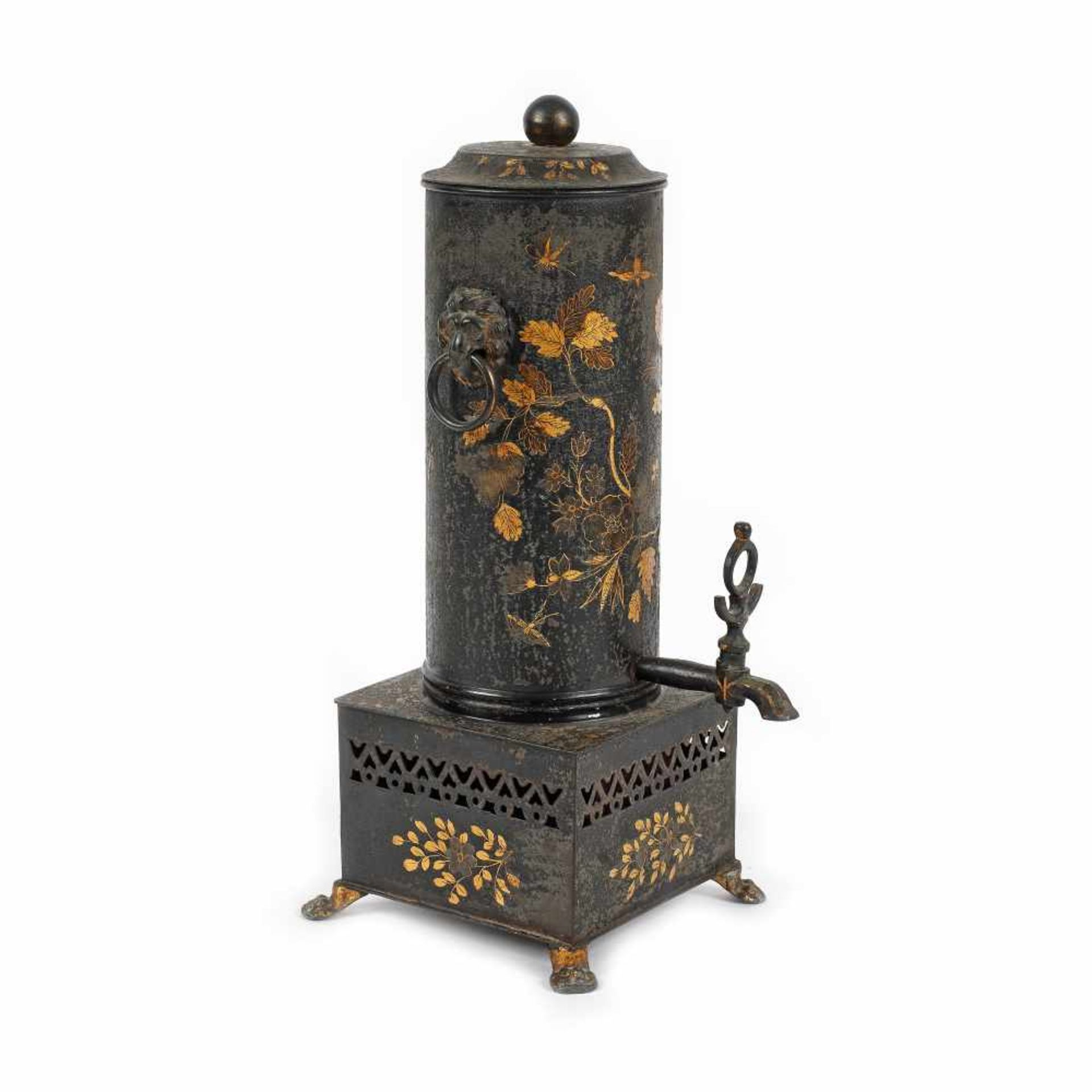 Coffee maker decorated with floral motifs, possibly France, early 20th century - Bild 2 aus 3