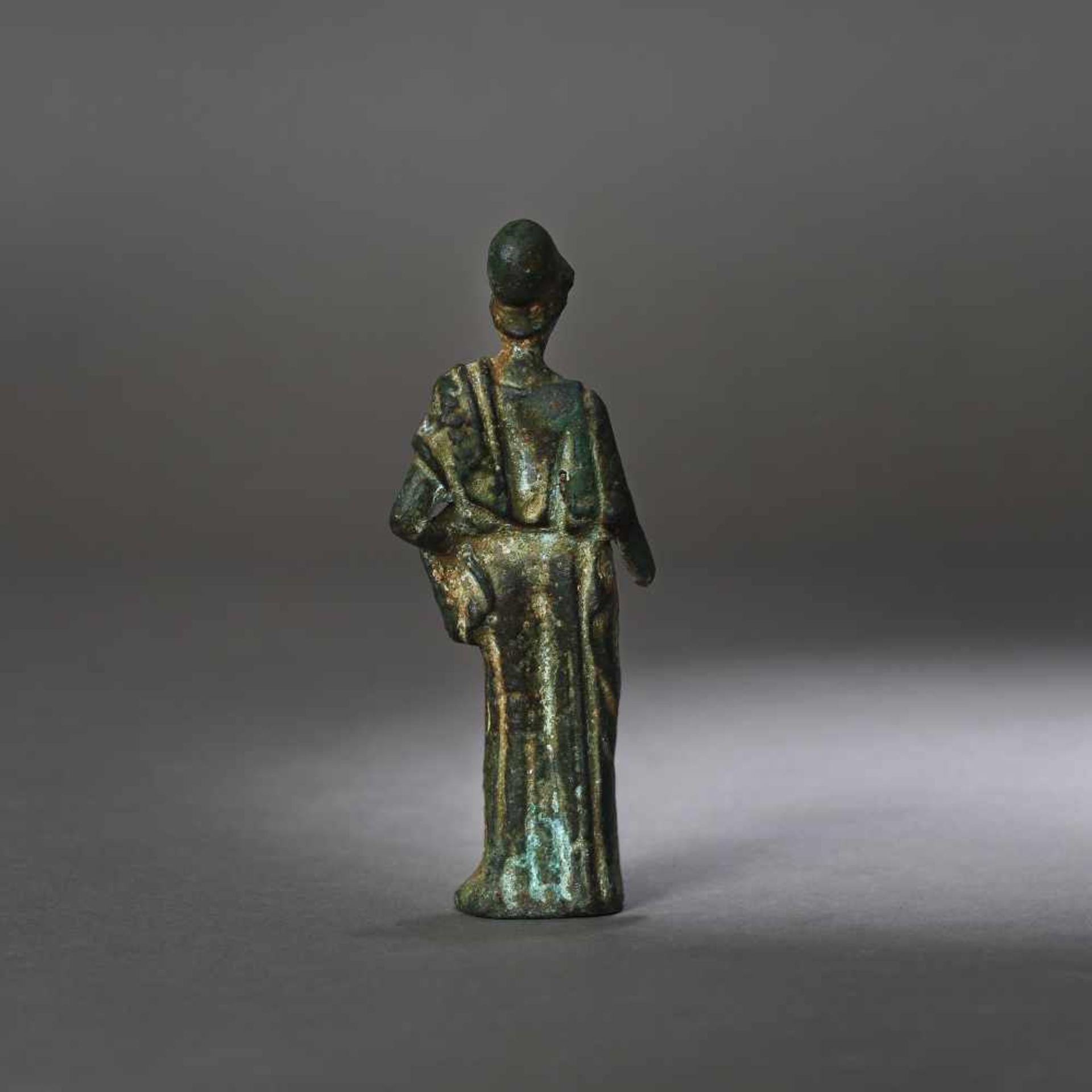 Bronze statuette depicting Athena, the goddess of wisdom, 1st century B.C. - Bild 4 aus 4