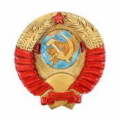 Communist Party emblem, ceramic, Ukraine, approx. 1970