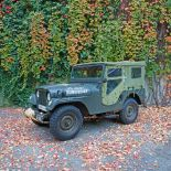 Willys Jeep, part of the equipment of the American army during the detachments in South Korea, 1956