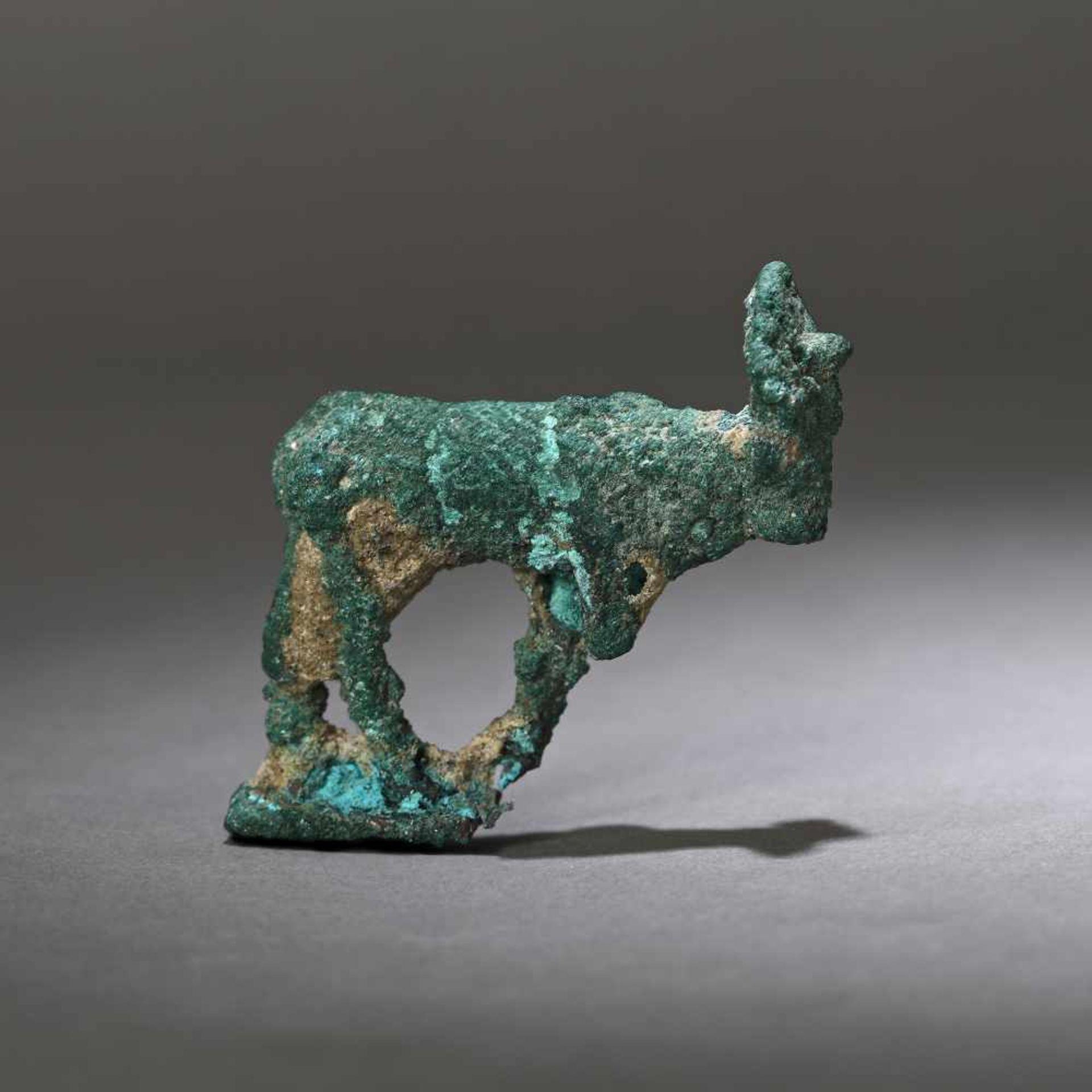 Bronze statuette depicting the god Apis transfigured into a bull, Egypt, 2nd-1st century B.C.