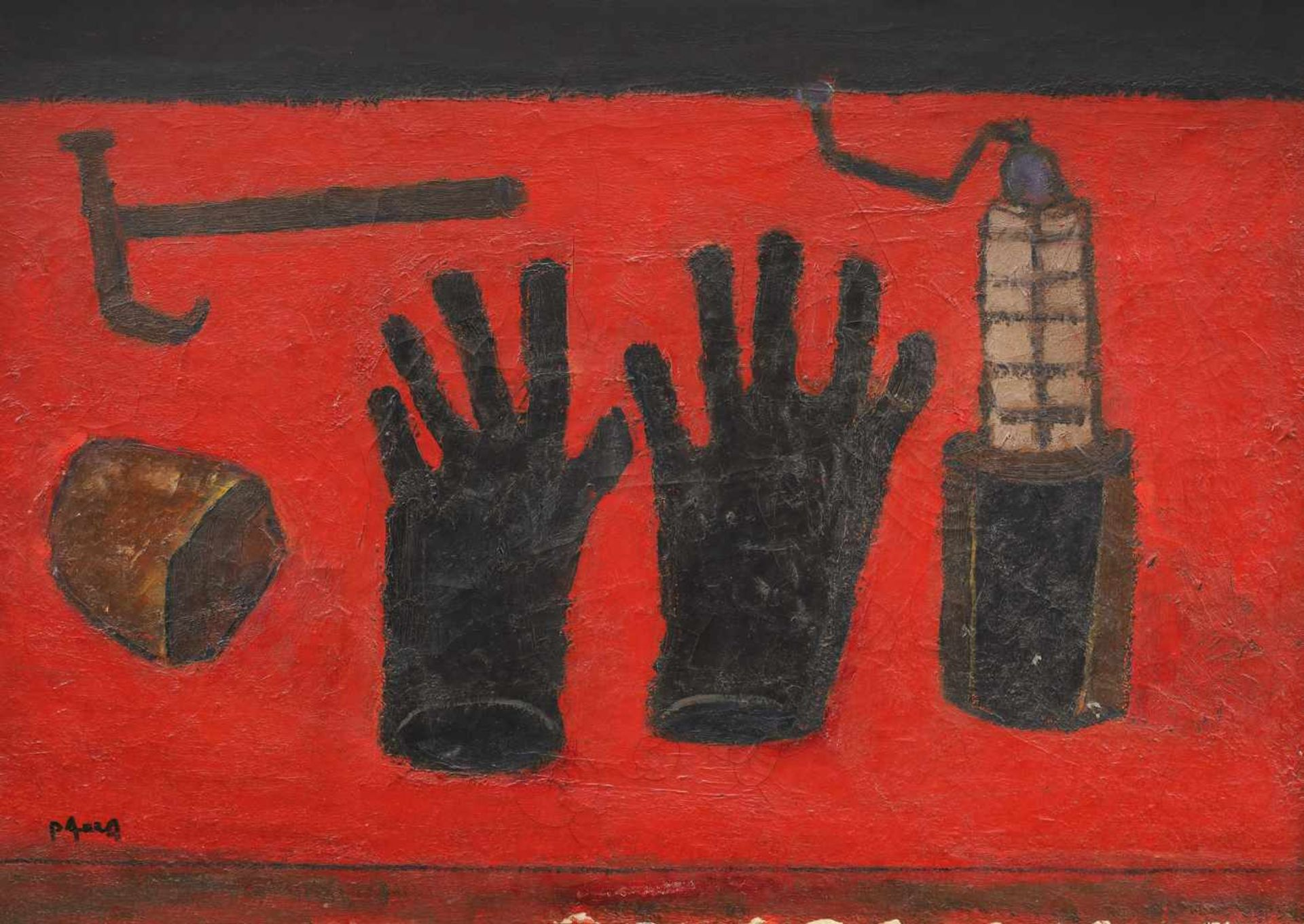 Ion Pacea, Still Life with Mining Tools