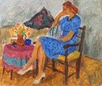 Niculina Delavrancea Dona, The Blue Dress