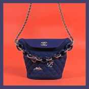 """Paris Hamburg Bucket Bag"" - Chanel bag, nautical themed accessories, for women, accompanied by auth"