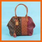 "Louis Vuitton bag, ""Trois matières"" collection, designer Marc Jacobs, for women, accompanied by an"