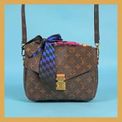 """Pochette Métis"" - Louis Vuitton bag, leather, brown, decorated with ""monogram pattern"", accompanie"