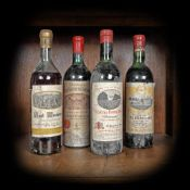 Famous Bordeaux wine selection, 1959/1969, 4b x 0.75l