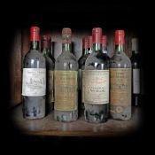 Saint-Émilion and Haut-Médoc wine collection, 1959/1975/1985/1988, 11b x 0.75l