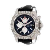 Breitling Super Avenger II wristwatch, men, bezel decorated with diamondsBreitling Super Avenge