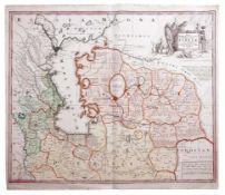 [Map of Middle Asia. Uzbekistan. Kazakhstan. Azerbaijan]. Nova Maris Caspii Et Regionis Usbeck Cum