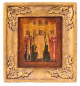 "Russian icon ""St Michael with selected saints"". - 19th century. - 27,5x25 cm."