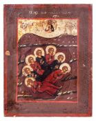 "Russian icon ""The seven sleepers of Ephesos"". - 19th. century. - 18x14,5 cm."