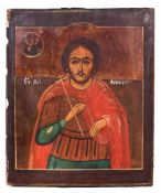 "Russian icon ""Boniface of Tarsus"". - 19th century. - 30,5x25 cm."