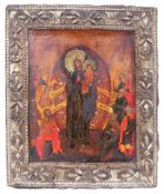 "Russian icon ""The mother of God joy to all who grieve"". - 19th century. - 32x27 cm."