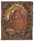 "Russian icon ""Do not weep for me Mother"" (Pieta). - 19th century. - 31,5x25 cm."