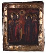 "Russian icon ""Selected saints""."