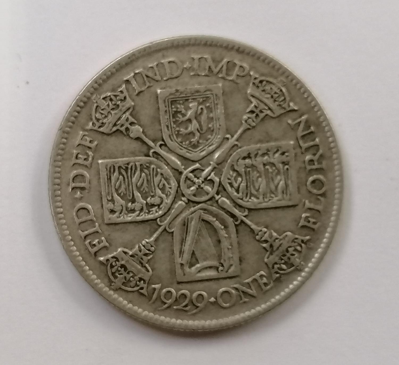 1929 one florin coin