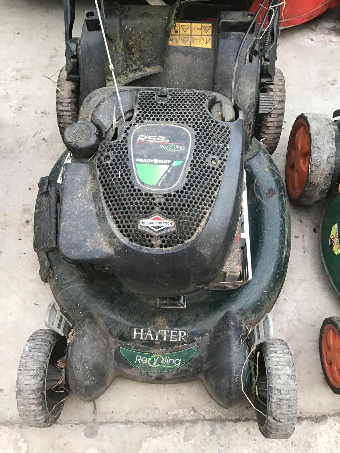 Lot 57 - TWO LAWNMOWERS TO INCLUDE A HAYTER R53 RECYCLING