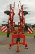 A 2007 KUHN GA7301 ROWING-IN MACHINE WITH INSTRUCTION BOOK/MANUAL