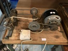 A WATCHMAKERS LATHE AND MOTOR