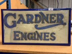 A GARDNER ENGINES ILLUMINATED LIGHT BOX SIGN
