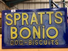 A 'SPRATTS BONIO DOG BISCUITS' ILLUMINATED LIGHT BOX SIGN