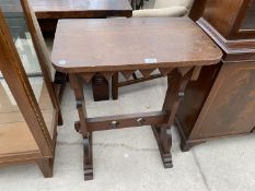 A SMALL ARTS AND CRAFTS STYLE PINE SIDE TABLE