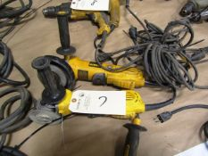 (2) Dewalt Electric Hand Grinders