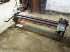 Peck, Stow & Wilcox Model 381-D 36'' Step Manual Slip Roll