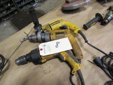 (3) Dewalt Electric Hand Drills