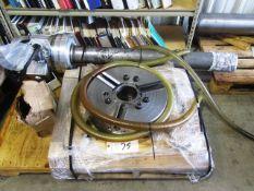 "Samchully HCH 18"" 3-Jaw Power Chuck 4.5"" Bore, 4.7"" Draw Tube & Kitagawa Cylinder F2511HS 5A"