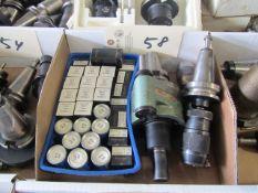 (3) BT 40 Taper Tool Holders & Misc Retention Knobs
