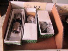 (3) CAT 40 Taper Tool Holders (new)