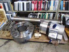 Samchully HCH-24 24'' 3-Jaw Power Chuck with 6.5'' Draw Tube & Samchully Cylinder SYHL-2816CC